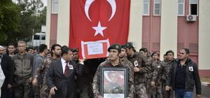Mardin'de kazada hayatını kaybeden polis için tören