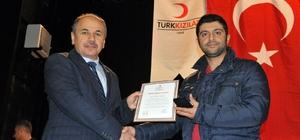 Yozgat'ta kan bağışçıları madalya ile ödüllendirildi