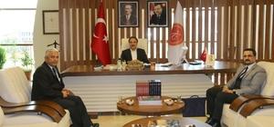 Kızılay Kan Merkezi İç Anadolu Bölge Müdürü Tatar, Rektör Bağlı'yı ziyaret etti