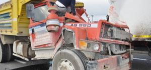 Konya'da kamyon, tıra çarptı: 1 ölü