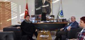 Başkan Albayrak' Dilek Türker'i ağırladı