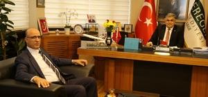 Başkan Özgüven, ilçe emniyet müdürünü ağırladı