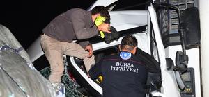 Bursa'da iki tır çarpıştı