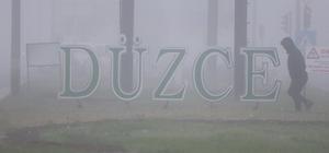 Düzce'de yoğun sis
