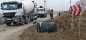 Tokat'ta otomobil devrildi: 6 yaralı