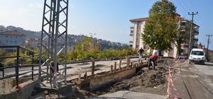 Akasya Sokakta yağmur suyu kanalı  çalışması