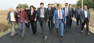 Başkan Atilla Bismil'deki yatırımları inceledi