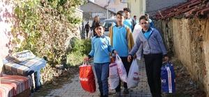 Öğrencilerden Suriyeli sığınmacılara yardım