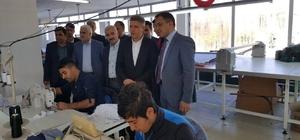 Sincik'te ki tekstil işletmeleriyle toplantı