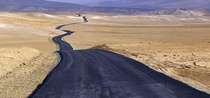 İran sınırındaki mahallelerin yolları asfaltlandı