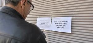 Derik esnafı Kaymakam Safitürk için kepenk kapattı