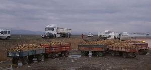 Eleşkirt'te şeker pancarı üreticileri eylem yaptı