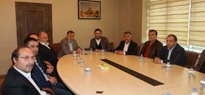 AK Parti yöneticileri NTSO Başkanı Parmaksız'ı ziyaret etti