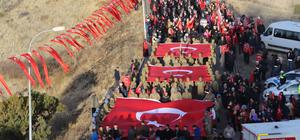 """Erzurum'da """"ecdada saygı"""" yürüyüşü"""