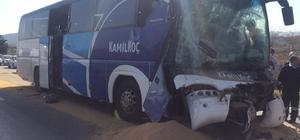 Otobüs çekiciye bağlı tıra çarptı: 1 ölü, 9 yaralı
