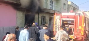 Manisa'da Suriyelilerin yaşadığı ev yandı