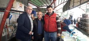 Başkan Kayda'dan, pazarcı esnafına ziyaret