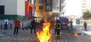 Midyat'ta yangın tatbikatı yapıldı