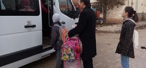 Sungurlu'da okul servisleri denetledi