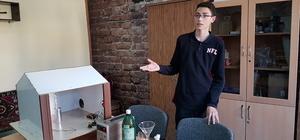 Lise öğrencisinden gaz zehirlenmelerini engelleyecek çalışma