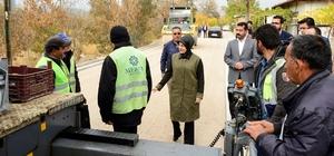 Başkan Toru, asfalt çalışmalarını inceledi