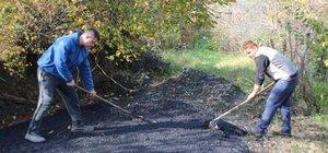 Akçakoca'da asfalt çalışması sürüyor