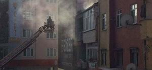 Lokantanın bacasında çıkan yangını itfaiye söndürdü