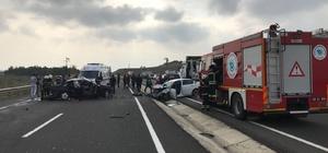 Çorlu-Tekirdağ yolunda kaza: 3 yaralı