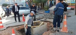 Vezirhan'da kanalizasyon çalışmaları devam ediyor