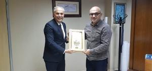 Başkan Yaman, Kocaeli Belediyesi Genel Sekreter yardımcısı Mengüç ile bir araya geldi
