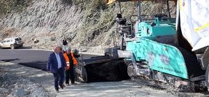 İkramiye mahallesi grup yolu asfaltlanıyor