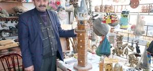 Yozgat'ın kültürünü ahşap süs eşyalarıyla tanıtıyor