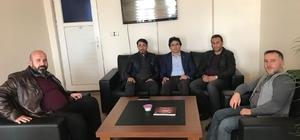 Patnos Gazeteciler Cemiyetinden Ak Parti İlçe Başkanı Dinç'e ziyaret