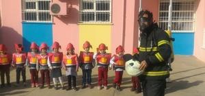 Kahta Sabiha Gökçen Anaokulunda yangın tatbikatı