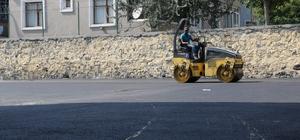 Eyüpsultan'da asfaltlama çalışmaları sürüyor