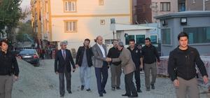 Başkan Dülgeroğlu, çalışmaları süren Lise Caddesinde incelemede bulundu