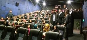 Havranlı öğrenciler sinema ile buluştu