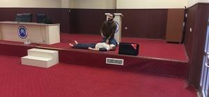 Midyat Devlet Hastanesinde ilk yardım eğitimi
