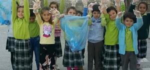 'Çevre Koruma Kulübü' öğrencileri çöp topladı