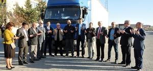 Karaman'dan Suriye'ye bir tır dolusu gıda yardımı
