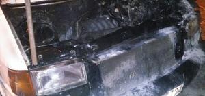 Havran'da kamyonet  yandı