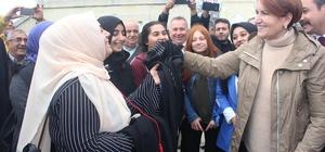 İYİ Parti Genel Başkanı Akşener Edirne'de