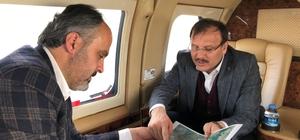 Çavuşoğlu ve Aktaş Bursa'yı gökyüzünden inceledi