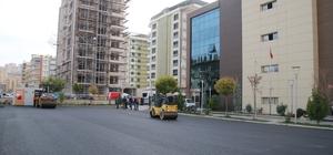 Diş Hastanesi otoparkı asfaltlandı