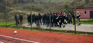 Zonguldak'ta amatör maçta arbede