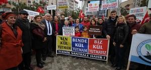"""Çerkezköy ve Kapaklı'da """"Termik Santral İstemiyoruz"""" mitingi"""