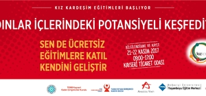 """""""Kız Kardeşim"""" Projesi 2017 Yılı Eğitimleri ile Yeniden Kayseri'de"""