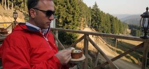 Giresun'da çam sakızlı sütlaç yapıldı