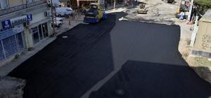 Çiftlikköy'de asfaltlama çalışmaları başladı