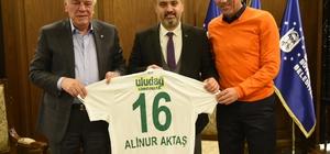 Bursaspor Kulübü Başkanı Ay'dan Aktaş'a ziyaret